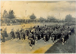Massed Highland Bands at the City Oval 1912 copy